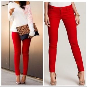 Sale 💝 Lauren Conrad Stiletto Red Skinny Jean